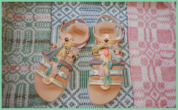 Bohemian waxwing bird sandals