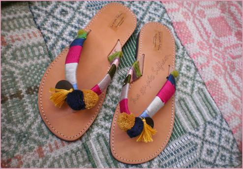 Carnaval Chamaeleon sandals