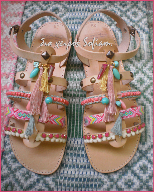 Strawberry bummble sandals