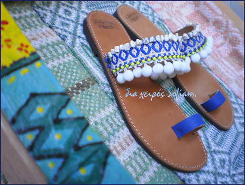 Blue Macaw bird sandals